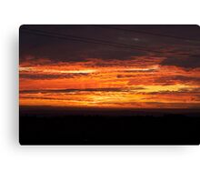 Spicy Hot Sunset Canvas Print