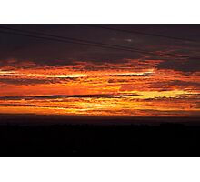 Spicy Hot Sunset Photographic Print