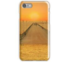 Bridge over the sea of wheat iPhone Case/Skin