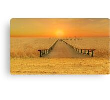Bridge over the sea of wheat Canvas Print