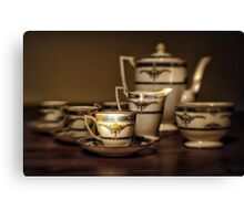 Art Deco Coffee Set Canvas Print