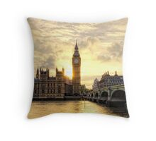 Sunset over the River Thames Throw Pillow
