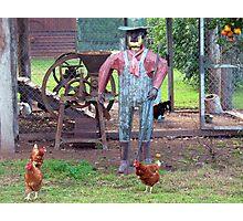 The Old Tin Chook Farmer Photographic Print