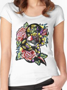 Seviper-pokemon tattoo collaboration Women's Fitted Scoop T-Shirt