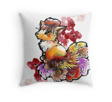 Vulpix the beauty queen Throw Pillow