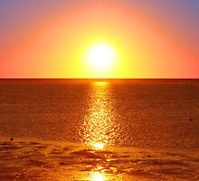 Sunset - North West Island - Great Barrier Reef by warmonger62