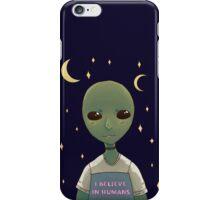 I believe in humans iPhone Case/Skin