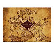 Marauders Map,Harry Potter Photographic Print