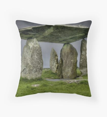 Pentre Ifan 2, Pembrokeshire, Wales Throw Pillow