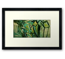 ABSTRACT GREEN Framed Print