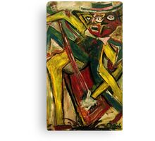 ABSTRACT GUITARIST IV Canvas Print