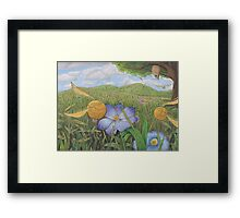 Golden Snitches in the Wild Framed Print