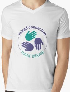 Official Mixed Connective Tissue Disease Logo Mens V-Neck T-Shirt