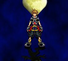 Sora Heartless Light Shadow Kingdom Hearts by dooweedoo