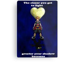 Sora Heartless Light Shadow Kingdom Hearts Metal Print