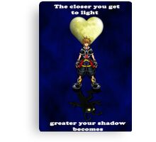 Sora Heartless Light Shadow Kingdom Hearts Canvas Print