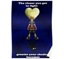 Sora Heartless Light Shadow Kingdom Hearts Poster