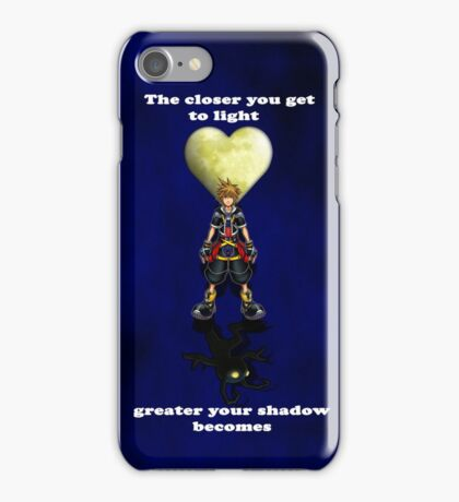 Sora Heartless Light Shadow Kingdom Hearts iPhone Case/Skin