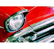 Flashy Red Photographic Print