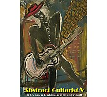 ABSTRACT GUITARIST V Photographic Print