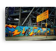 urban landscape - construction site Canvas Print