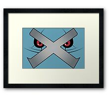 Metagross Face Framed Print
