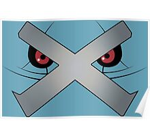 Metagross Face Poster