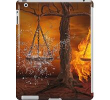 Fire and water balance iPad Case/Skin