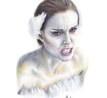 Natalie Portman as Nina Sayers / The Black Swan by JHallam