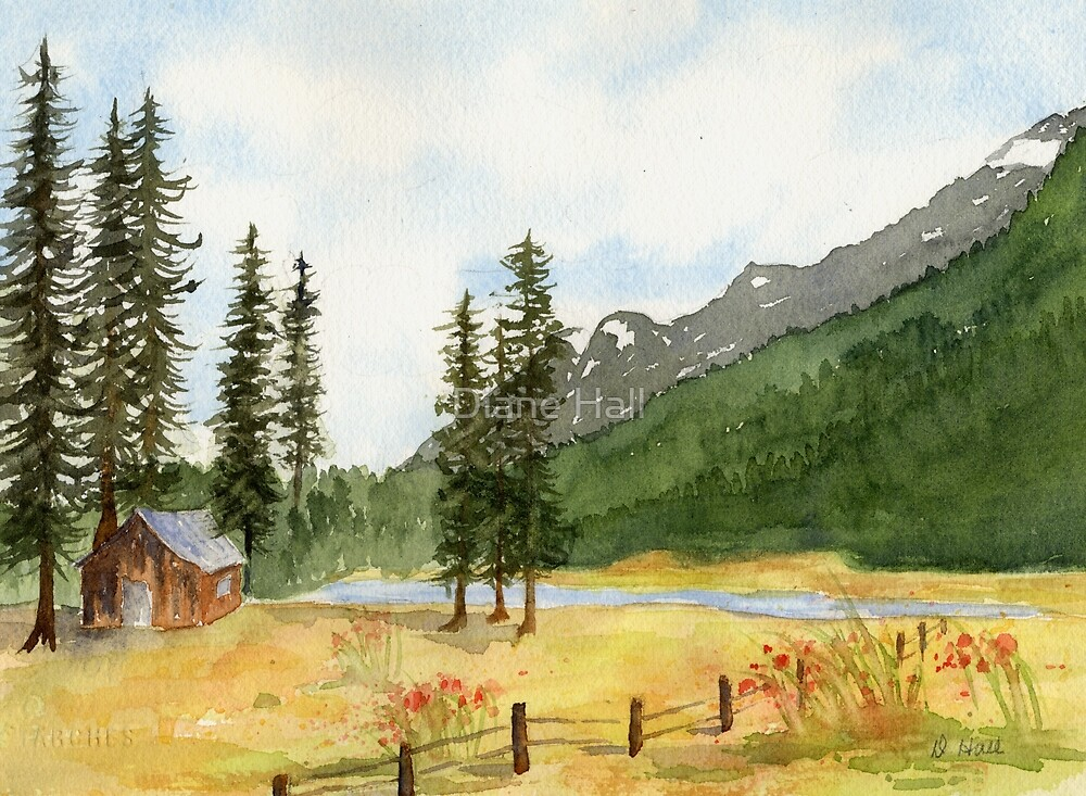 Mountain Meadow Solitude by Diane Hall