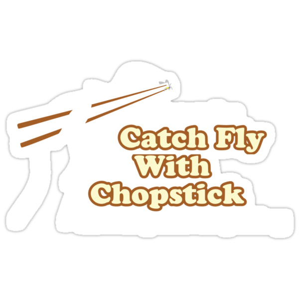 Catch Fly With Chopstick by DetourShirts