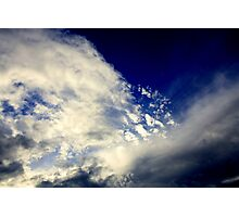 A splatter full of clouds Photographic Print