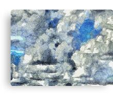 Clouds Vincent Style 3 Metal Print