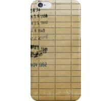 Library Due Date Card iPhone Case/Skin