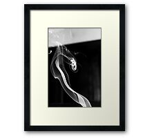 Curled Ribbon of Smoke Framed Print