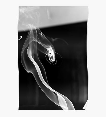 Curled Ribbon of Smoke Poster