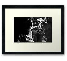 Blowing Smoke Framed Print