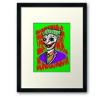 Josh's Joker Framed Print