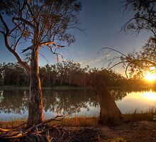 River Murray Sunset - Above Renmark, South Australia by Mark Richards