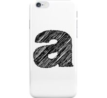 Sketchy Letter Series - Letter A (lowercase) iPhone Case/Skin