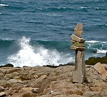 Inukshuk by the Shore, Brier Island by David Davies