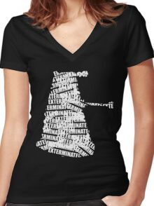 Exterminate V.2 Women's Fitted V-Neck T-Shirt