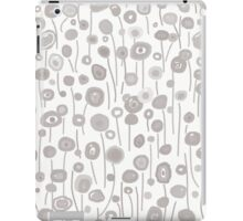 Abstract Flowers - Gray iPad Case/Skin