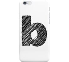 Sketchy Letter Series - Letter B (lowercase) iPhone Case/Skin