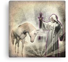 The Witch and The Unicorn Canvas Print