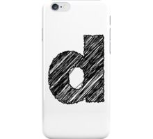 Sketchy Letter Series - Letter D (lowercase) iPhone Case/Skin