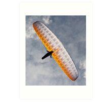 Sunlit Paraglider Art Print