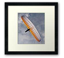 Sunlit Paraglider Framed Print