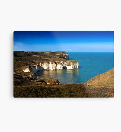 Coastal View Flamborough Head - East Yorks. Metal Print
