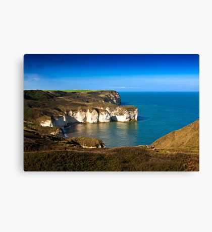 Coastal View Flamborough Head - East Yorks. Canvas Print